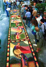 Infiorata - floral compositions