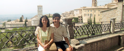 Kathy and Vezio at Assisi