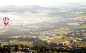 Balloon lift off at the Mongolfiero in Todi
